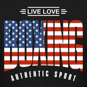 Live Love Boxing US - Women's T-Shirt