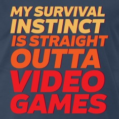 Funny Gamer T-shirt Straight Outta Video Games