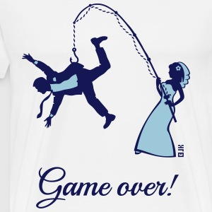 Game Over (Bride Fishing Husband) T-Shirts - Men's Premium T-Shirt