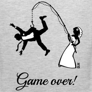 Game Over (Bride Fishing Husband) Tank Tops - Men's Premium Tank