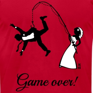 Game Over (Bride Fishing Husband) T-Shirts - Men's T-Shirt by American Apparel