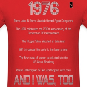 1976 40th Birthday - Men's T-Shirt