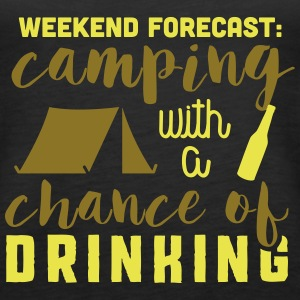 Camping with a chance of drinking Tanks - Women's Premium Tank Top