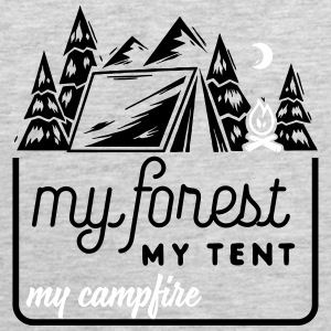 Camping: my forest my tent my campfire Tank Tops - Men's Premium Tank