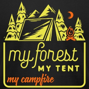 Camping: my forest my tent my campfire T-Shirts - Men's T-Shirt by American Apparel