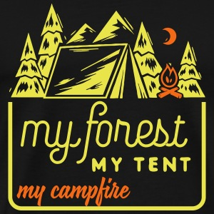 Camping: my forest my tent my campfire T-Shirts - Men's Premium T-Shirt