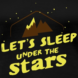 Camping: lets sleep under the stars Women's T-Shirts - Women's Premium T-Shirt