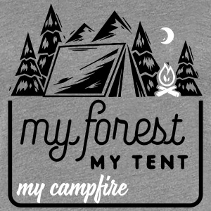 Camping: my forest my tent my campfire Women's T-Shirts - Women's Premium T-Shirt
