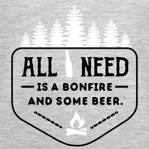 Camping: all i need is bonfire and beer Tanks - Women's Premium Tank Top