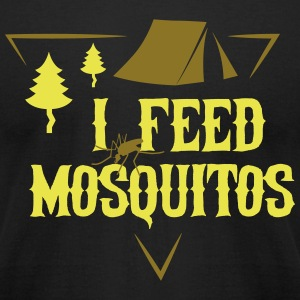 Camping: I feed mosquitos T-Shirts - Men's T-Shirt by American Apparel