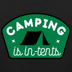 Camping is in-tents Tank Tops - Men's Premium Tank