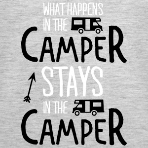 what happens in the camper... Tanks - Women's Premium Tank Top