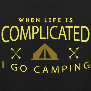 Camping: when life is complicated Tank Tops - Men's Premium Tank