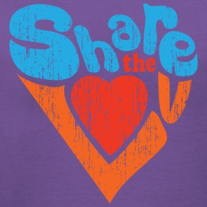 Share the Love Distressed V-Neck Tee - Women's V-Neck T-Shirt
