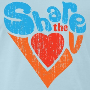 Share the Love Distressed Vintage Tee  - Men's Premium T-Shirt