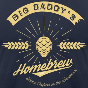 Big Daddy's Homebrew_cream - Men's T-Shirt by American Apparel