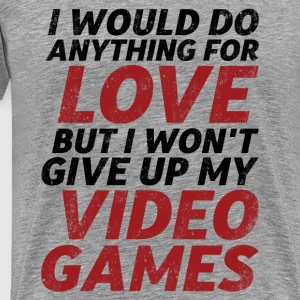 Funny Gamer and Geek Love and Romance T-shirt - Men's Premium T-Shirt