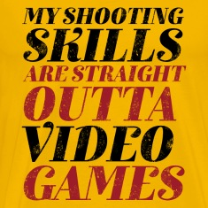 Funny Gamer Geek T-shirt Straight Outta Video Game