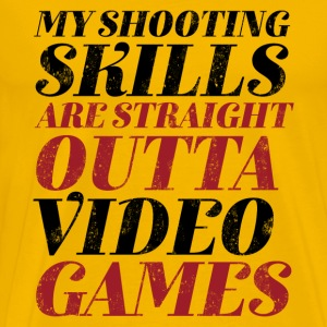 Funny Gamer Geek T-shirt Straight Outta Video Game - Men's Premium T-Shirt