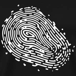 Fingerprint white T-Shirts - Men's Premium T-Shirt