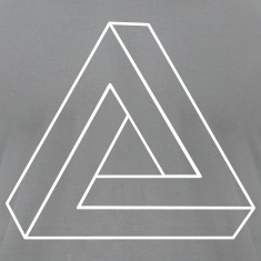 Impossible Triangle 3D T-Shirts