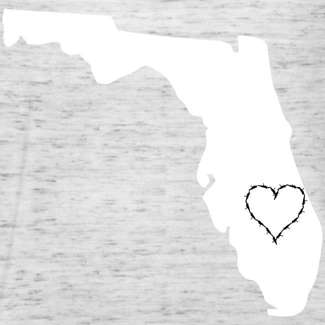 State of florida with heart  flow tank top.
