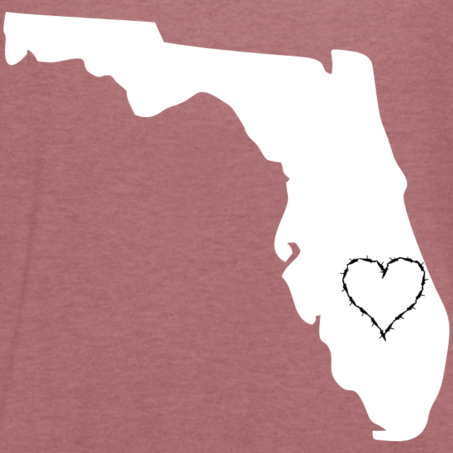 State of florida with heart