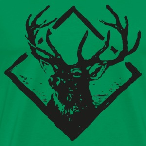 Deer Vintage Badge - Men's Premium T-Shirt