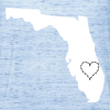 State of florida with heart  flow tank top.  - Women's Flowy Tank Top by Bella
