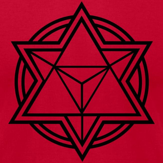 Mens Standard Merkaba Music Logo Tee