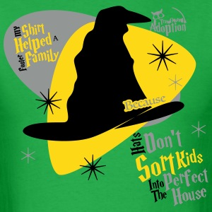 ...Because Hats Don't Sort Kids... (Green) - Adult - Men's T-Shirt