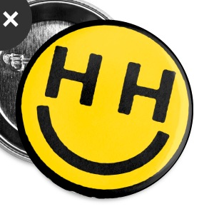 happy hardcore smiley face buttons - Large Buttons