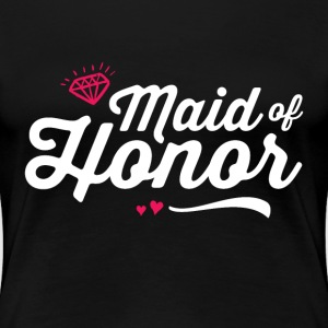 Maid of Honor T-shirt for Bachelorette Party - Women's Premium T-Shirt
