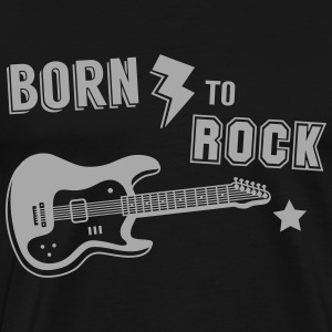 Born To Rock Guitar T-Shirts - Men's Premium T-Shirt