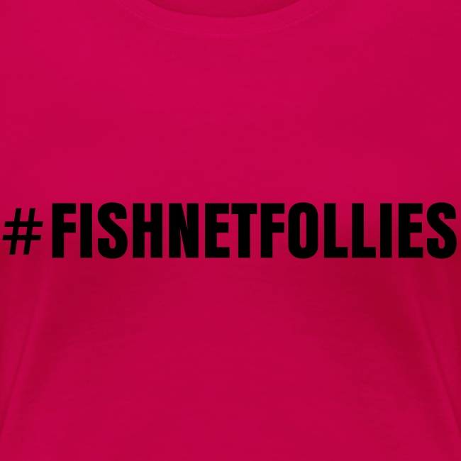 #FISHNETFOLLIES Shirt - Black on Dark Pink