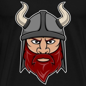 Viking Warrior Head T-Shirts - Men's Premium T-Shirt