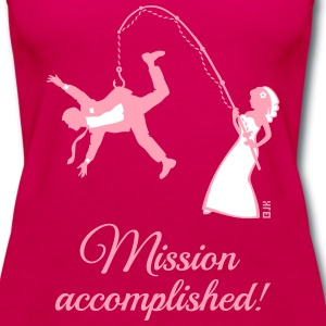 Mission Accomplished / Bride Fishing Husband Tanks - Women's Premium Tank Top