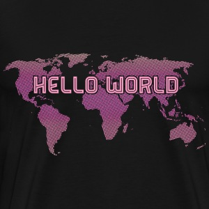 Hello World - Pink T-Shirts - Men's Premium T-Shirt