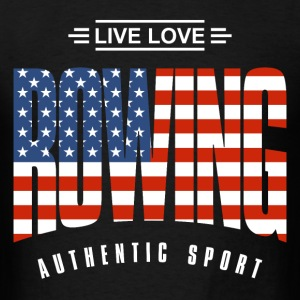 Live Love Rowing USA - Men's T-Shirt