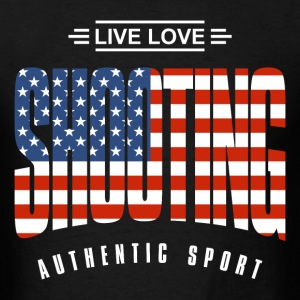Live Love Shooting USA - Men's T-Shirt