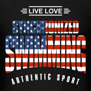 Live Love Synchronized Swimming USA - Men's T-Shirt