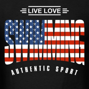 Live Love Swimming USA - Men's T-Shirt