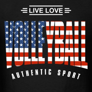 Live Love Volleyball USA - Men's T-Shirt