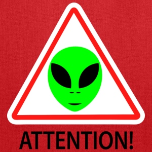 Alien attention sign Bags & backpacks - Tote Bag