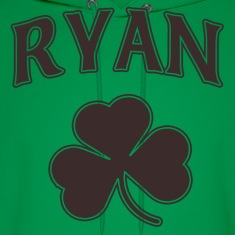 Ryan Irish Shamrock Family Heritage Hoodies