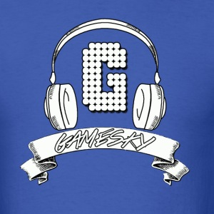 Gamesky Headphone Logo Blue - Men's T-Shirt