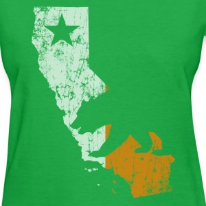 Cali Outline Ireland Flag Women's T-Shirts - Women's T-Shirt