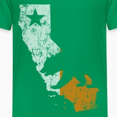 Cali Outline Ireland Flag Baby & Toddler Shirts