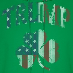 Irish Trump Shamrock American Flag Hoodies - Men's Hoodie