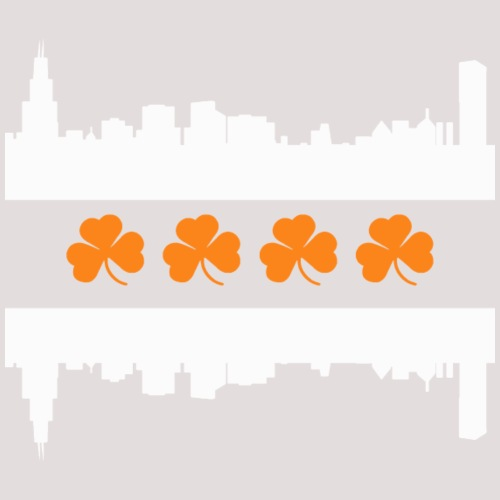 Irish Chicago Flag Skyline St Patricks Day